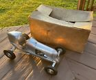 Vintage 1940 Rexner Deluxe Gas Powered Tether Race Toy Car w/Box