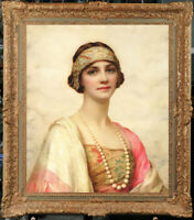 """Old Master-Art Antique Oil Painting Portait Noblewoman girl  on canvas 20""""x24"""""""
