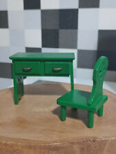 Sylvanian Families Calico Critters 1985 Vintage Green Desk & Chair