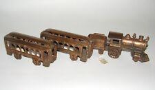 Cast Iron KENTON 2-2-0 Copper Plated Passenger Train Set NO RESERVE (DAKOTApaul)