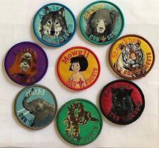 Cub Scout JUNGLE BOOK CHARACTER BADGE SET, 8 badges full set, Scouts Australia