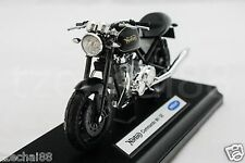 Welly 1:18 DIECAST Motocycle Norton Commando 961 SE Black Model COLLECTION New