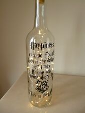 Harry Potter Light Up Bottle Remember To Turn Off The Light, Night Light, Lamp