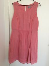 Jigsaw Watermelon Sleeveless Summer Dress Size 12