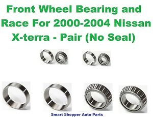 Front Left or Right Wheel Bearing and Race Set of 2 for 1999-2004 Nissan Xterra