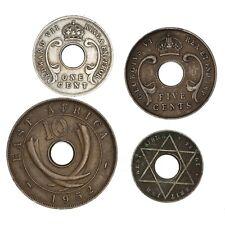 EAST AFRICA WEST AFRICA UGANDA Lotto di 4 monete 1909 1934 1941 1952