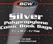 200 Silver Comic Bags and Boards  NEW BCW Archival Book Storage