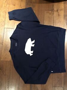 PJ Mamma Sweatshirt Top Size Large Navy Blue  Polar Blue Organic Cotton
