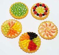 Dollhouse miniature Bakery Free ship Set of 4 PCs.Miniature Fruit Tart