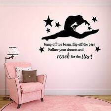 Personalised Girls Ballerina Wall Art Vinyl Sticker, Bedroom Decor Lovely Quote