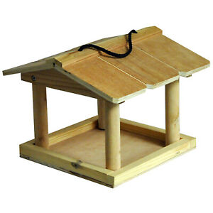 Natures Market Hanging Bird Table - Wooden Feeding Table