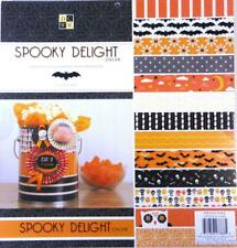 "Spooky Delight Printed Cardstock Foil 12""x12"" DCWV 48 Sheets 24 Design Halloween"