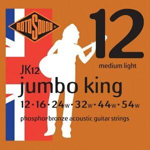 Rotosound JK12 Jumbo King Phosphor Bronze 12 - 54 Acoustic Guitar Strings