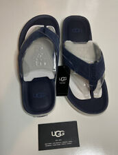NIB UGG Mens Beach Flip Flop Thong Navy Sandals Size 7