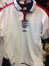 Inglaterra Camisa 2003/5 Home Shirt Small Medium Orx grande en £ 18 SLE shorteve BNWL