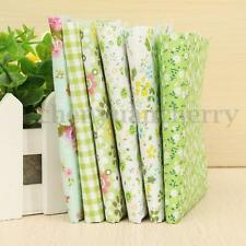 6PCS Assorted Pre-Cut Fat Quarters Bundle Cotton Quilt Fabric Patchwork Green