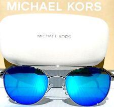 6d5e13ba214 NEW  MICHAEL KORS SAL Round AVIATOR 53mm SILVER w BLUE Lens MK5019 Sunglass