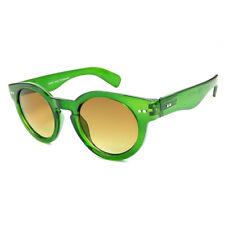 Green Thick Round Steampunk Dark Lens 50s Sunglasses Classic VTG Retro 40s