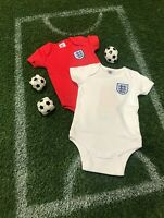 ENGLAND Official Football Club Baby Kit twin pack bodysuit vests ENG901