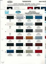 2000 VOLVO PAINT CHIPS (DUPONT AND PPG)