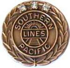 Southern Pacific 45 year service pin  3 diamonds Tie Tac, price is for one pin
