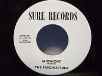 "The Fascinations,Sure 106,""Midnight"",US,7"" 45, 1960 doo wop rarity, Mint"