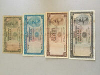 1963 TIMOR-PORTUGESE  NICE SET 4 NOTES 20 / 50 /100 / 500 ESCUDOS