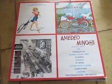 """LP """"AMEDEO MINGHI"""" di AMEDEO MINGHI  (ALBUM OMONIMO), AUTOGRAFO ORIGINALE"""
