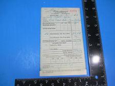 Vintage 1943 August A. Busch & Co Ma Receipt Budweiser Beer City Hall Spa S9178