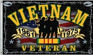 Vietnam War Veteran Indoor/Outdoor 3 X 5 FT. Flag Freedom Fighter