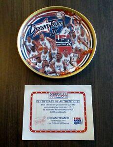 "Sports Impressions Collectors Plate 8.5""~DREAM TEAM II~USA Basketball w/COA 0909"