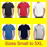 Gildan Big Mens Plain T-shirts Small to 5XL Plus Size Suit 6XL 7XL 8XL 9XL