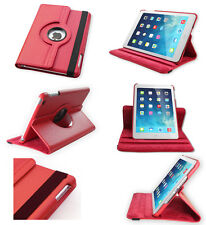 Apple iPad 2 3 4 - Red 360° Rotating Stand Leather Case Cover with wake/sleep