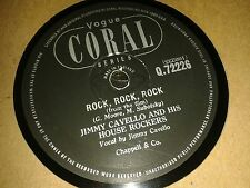 JIMMY CAVELLO & His House Rockers : ROCK, ROCK, ROCK / THE BIG BEAT. UK.78.rpm