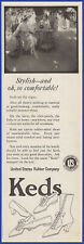 Vintage 1919 KEDS Shoes Fashion Sneakers Ephemera US Rubber Art Decor Print Ad