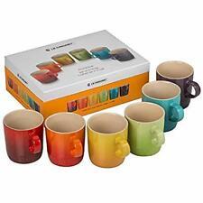 Le Creuset Stoneware Rainbow Coffee Mugs 350 Ml Set of 6 Colours Cherry