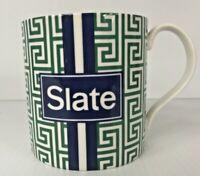 Jonathan Adler SLATE Designer Mug Green & Blue Chic Design EUC