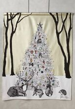 "Anthropologie ""Winter's Glow"" Tapestry Wall Hanging Christmas Holiday SOLD OUT!"
