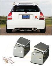 For 96-00 Honda Civic EJ6 Type-R CTR Wing Spoiler Riser SILVER Alex Tilt Bracket