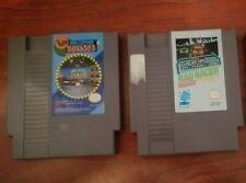 NES Nintendo Video Games Lot- Hollywood Squares Fun Show, Rad Racer Fun Car Game