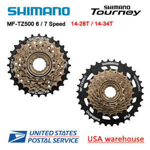 Shimano Tourney MF-TZ500 6 / 7 Speed 14-28T / 14-34T Freewheel Cassette