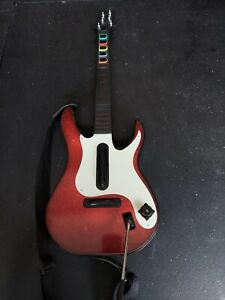 Activision Red Guitar Hero 5 Wireless Controller PS3 PS2 CE1588 NO DONGLE!
