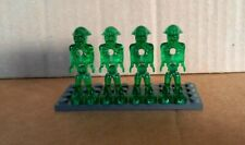 Lego Mars Mission minifigures - 4 Green Aliens