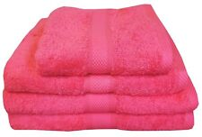 HOT PINK 500 GSM EGYPTIAN COTTON TOWELS CERISE FUCHSIA LUXURY COMBED STRIPES