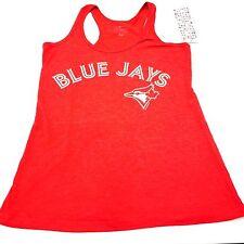 Women's Toronto Blue Jays MLB Baseball Trip-Blend Alternate Red Tank Top Medium