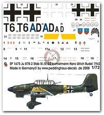 Peddinghaus 1/72 Ju 87 B-2 Markings Hans-Ulrich Rudel 10.(Pz)/StG 2 1943 1675