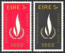 Ireland 1968 Human Rights Year/Flame/UN/People/Welfare 2v set (n30457)