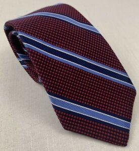 "robert talbott best of class mini dot striped silk neck tie 59"" x 3.25"" recent"