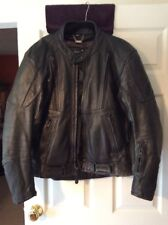 Men's XPERT SPORT Bomber/Motorcycle Black Leather Jacket Sz 44 See Details