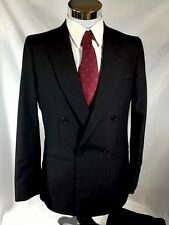 """Raffinati Double Breasted Pinstriped Suit 42-44 Inseam 30"""" Waist 32"""